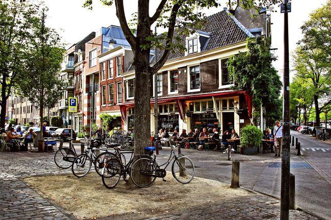 Cafe Thijssen, Amsterdam City Bicycle Street Cafethijssen Amsterdam Jordaan Brouwersgracht