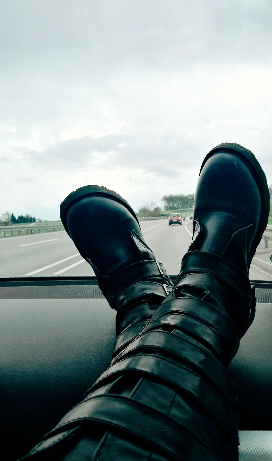 On the way to Tübingen Germany Human Body Part Human Leg Personal Perspective Cloud - Sky Low Section One Person Shoe Close-up Only Women One Woman Only One Young Woman Only Young Adult In Car Roud Driving To Work Driving Home Car Perspective Sitting In The Car