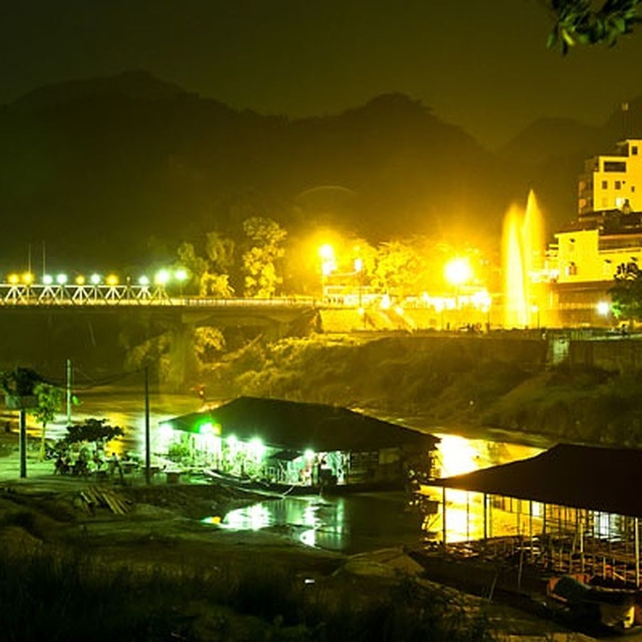 khung cảnh huyền ảo hà giang city Night Reflection Water Illuminated River Outdoors No People Nautical Vessel Scenics Sky Nature Tree City Architecture First Eyeem Photo Live For The Story The Great Outdoors - 2017 EyeEm Awards