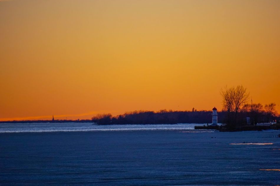 Melting ice on Lachine Canal Dawn Canada Lachine Canada Coast To Coast Montréal Skyporn A6000 Orange Lighthouse Streetphotography