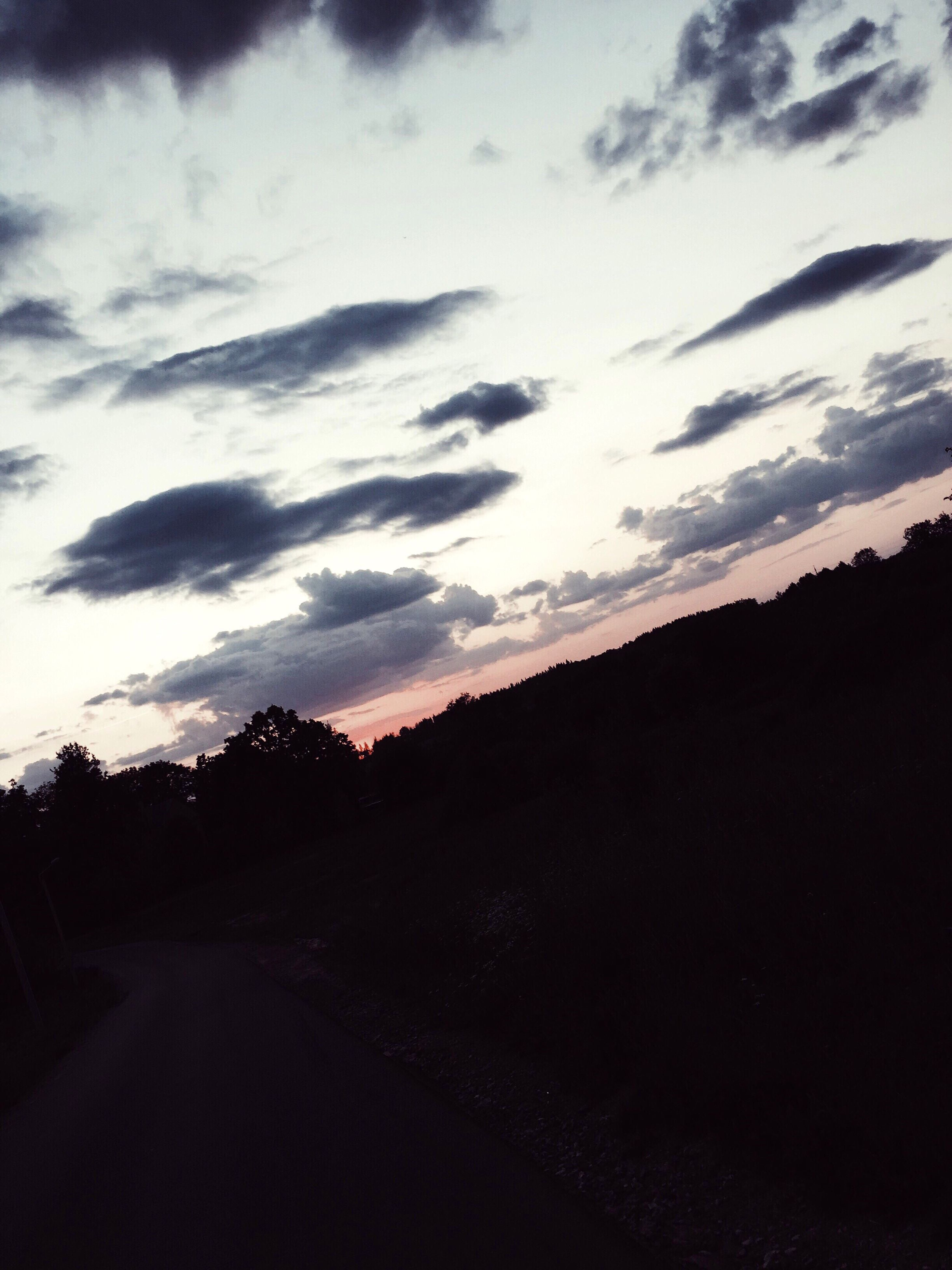 silhouette, sunset, sky, nature, cloud - sky, beauty in nature, scenics, outdoors, no people, tranquility, tranquil scene, mountain, landscape, day