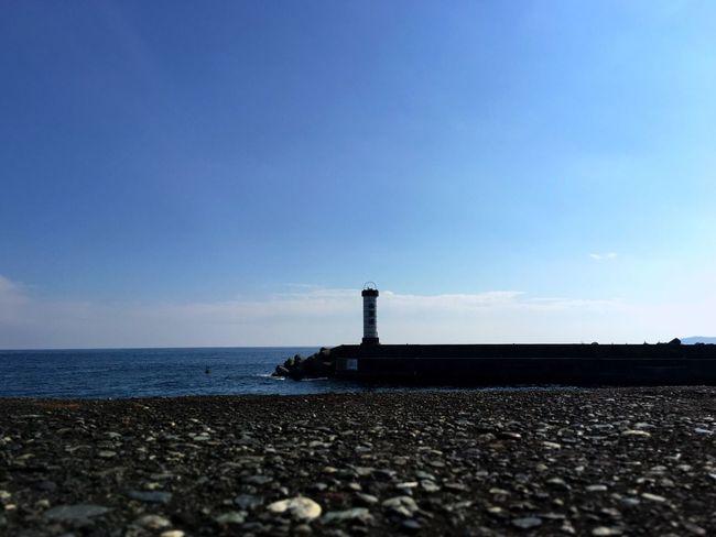 小田原 Odawara 港 Harbor の灯台 Lighthouse は、巨大な提灯 Lantern だった。 Landscape Silhouette Fishing Port