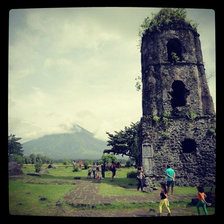 Mayon Volcano is at its usual self again - HIDING! Photo taken at the remains of Cagsawa Church. Church Churches Volcano Volcanoes Philippines Photooftheday Insta_awe Megusta Melikey Igers Places Albay Bicol
