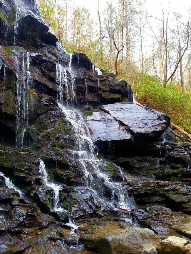 Waterfall Long Hike Worth The Beauty Serene Waterfalls And Calming Views  Waterfall_collection Calming Peaceful