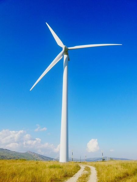 Alternative Energy Wind Turbine Wind Power Renewable Energy Electricity  No People Sky Power In Nature Technology Molise Italy