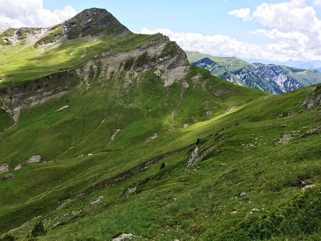 Alps Beaufort  Mountain Green Color Nature Grass Beauty In Nature Scenics Day Landscape Sky No People Tranquil Scene Outdoors Tranquility Mountain Range Cloud - Sky