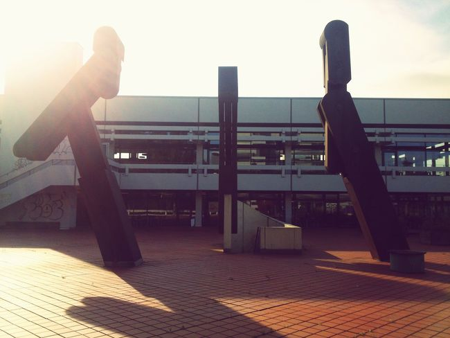 Technische Fakultät Erlangen Red Square Roter Platz Metal Engineeringstructures Modern Art!!!