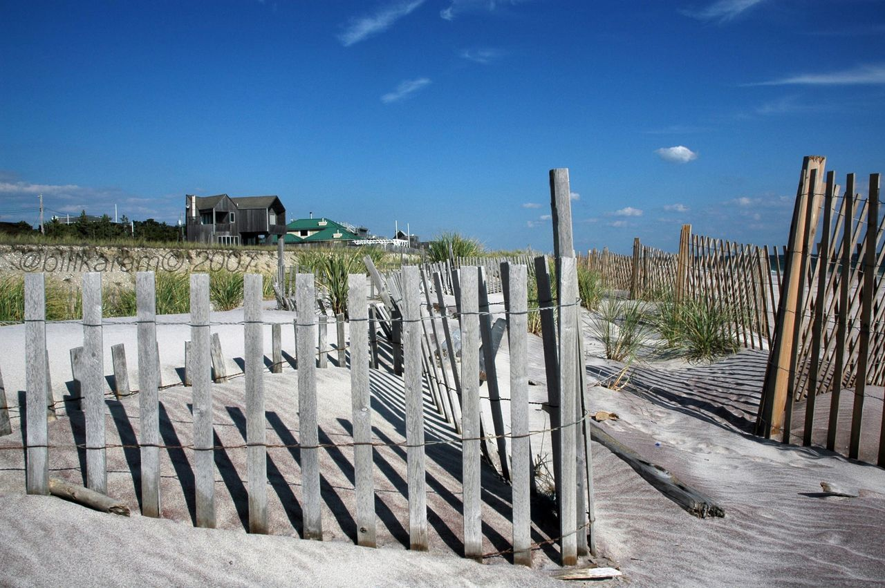 Fire Island Pines beach front 2007, original print by Bill Karam Outdoors Sky Nature Blue Architecture No People Day beach Sky And Clouds sand Waterfront ocean Atlantic Ocean