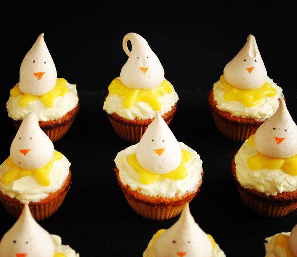 Visual Feast Cupcakes Food Dessert Easter Chickcupcakes Lemoncurd Lemony Lemon IPhone Photography Sweetconfessions Visual Feast