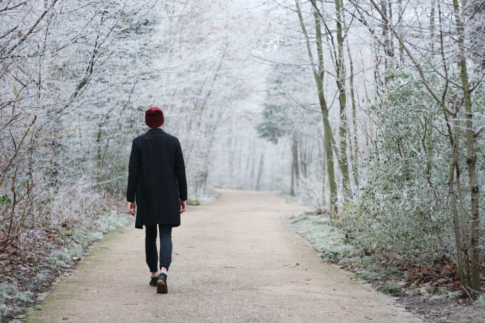 """"""" Cold Walk """" Full Length Rear View Tree Walking One Person One Man Only People Warm Clothing Alone Model Fashion Fashion Photography Landscape Man Snow Forest Path Simplicity Winter Wintertime Only Men The Way Forward Outdoors Eyeemphoto Cold Fresh On Market 2017"""