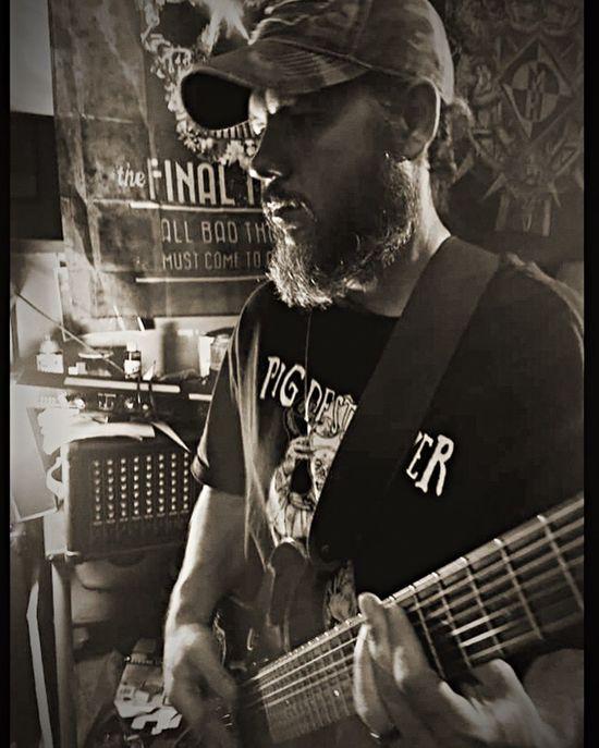Music Musician Guitarist 7string me Blackandwhite Skrewface