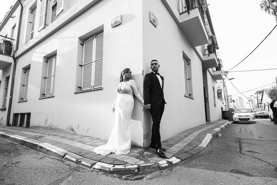 Embrace Urban Life Two People Togetherness Women Men Adult Wedding Dress People Pepole Popular Enjoy The New Normal Eyestoriestudio Sound Of Life Photographing Oh The Places We'll Go EyeEm Real People Wedding Wedding Photography Bnw_life Bnw Urban