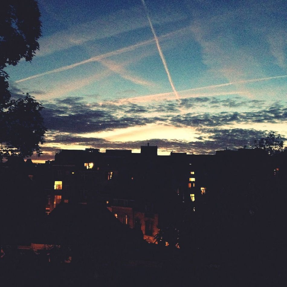 ? Brussels Sunset Sky Clouds