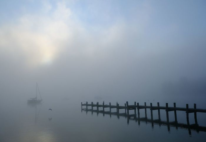 Foggy Weather Harbor Harbour Holiday Morning Light Morning Sky Sailing Ship Tranquility Bridge Early Morning Earlymorning  Fog Foggy Day Foggy Morning Landing Stage Nature Nautical Vessel Sailboat Sailing Boat Scenics Sea Tranquil Scene Tranquility Water Wood Bridge Connected By Travel