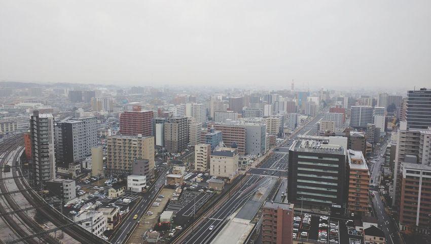 Rainy Sendai City Morning Lifestyles Enjoying Life Taking Photos View
