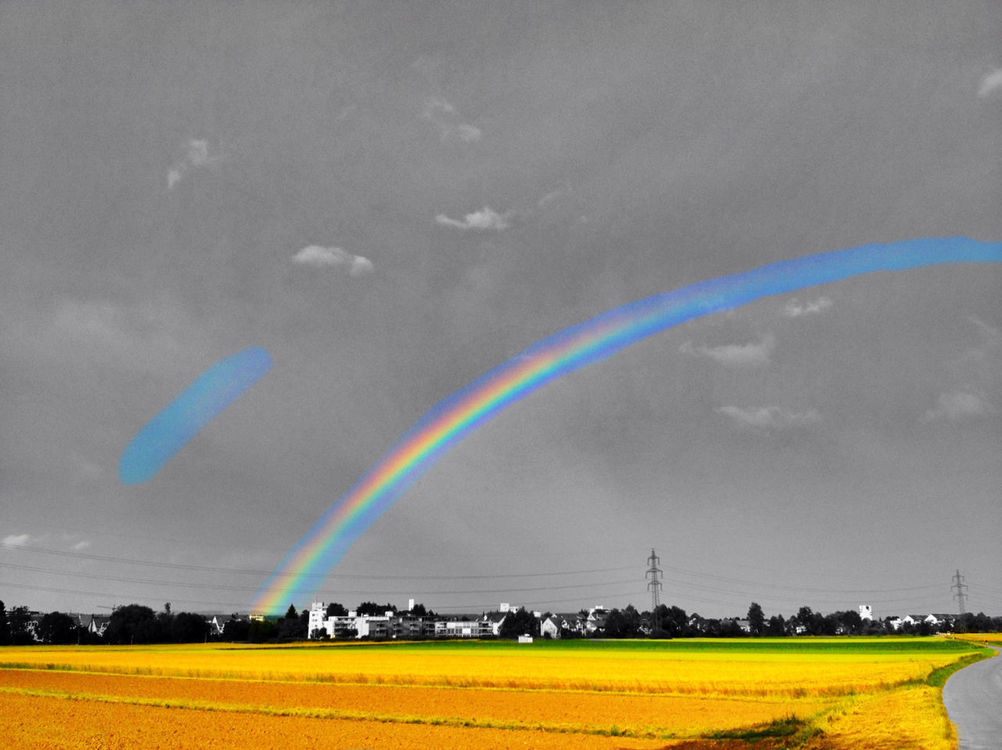 rainbow at Dübendorf, Sonnental by Adrian Senn