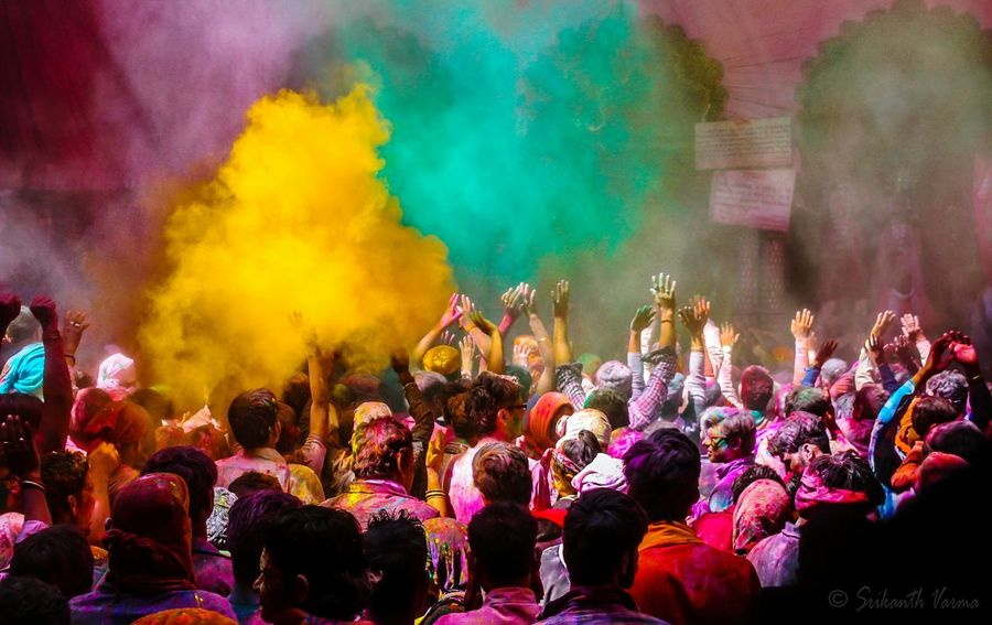 Holi, the festival of colors. Holi in Vrindavan, India is one of the best holis in the country that one can experience. Colors Celebration Holi Spectacular Festival Of Colors Photography Colorlove Canon700D India