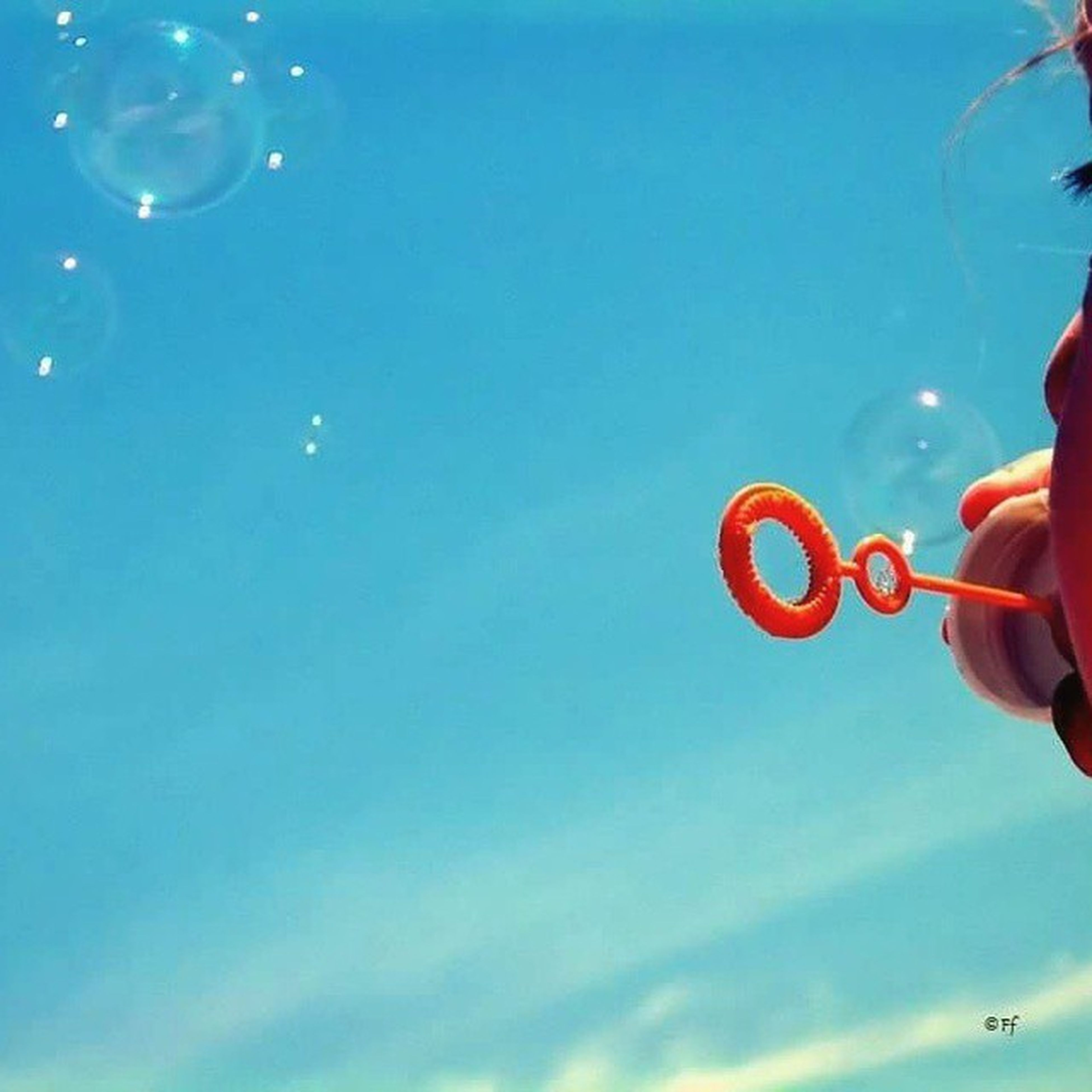 Summer Sky Baloons Soapbaloons Childhood Sky My niece.