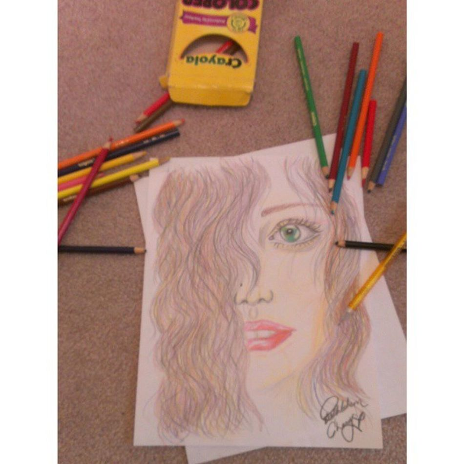 Just a doodle. Crayolacoloredpencils Borrred Hinchliffeart