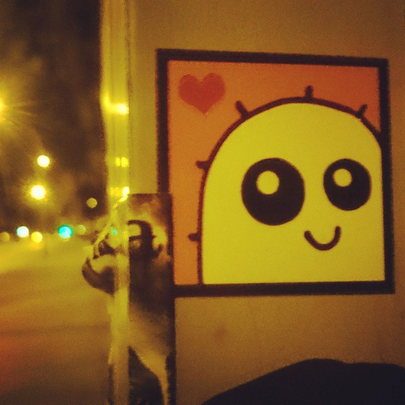 Streetart Stickers Berlin Night Light Love Nachtleben Smile Whomadethis