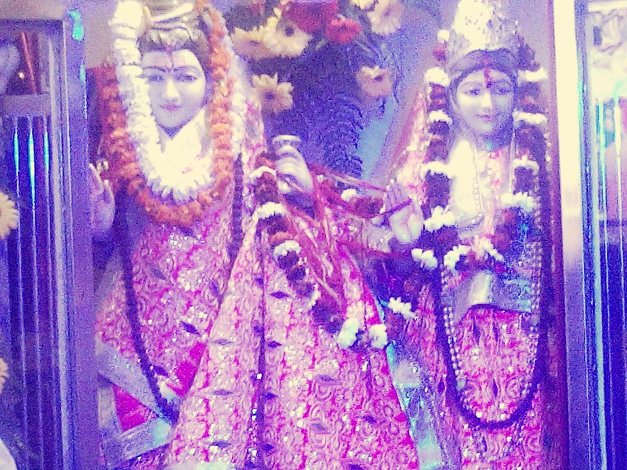 Finally Lord Shiva Goddess Parvati Shivshakti MahaShivRatri or Shivratri is Celebration in the honour of Lord Shiva & Goddess Parvati's (believed to be the Reincarnation of Goddess Shakti ) Wedding hence Traditional Wedding Dress & massive Celebrations . Aum Nama Parvati Patey Hara Hara Mahadev Aum Namah Sivaya