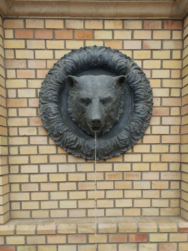 Bear Head Fountain