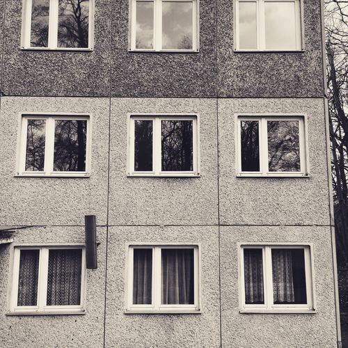 Architectural Feature Architecture Backgrounds Building Exterior Built Structure DDR Geometric Shape In A Row IPhoneography No People Order Outdoors Pattern Side By Side Socialism Werder (Havel) Window