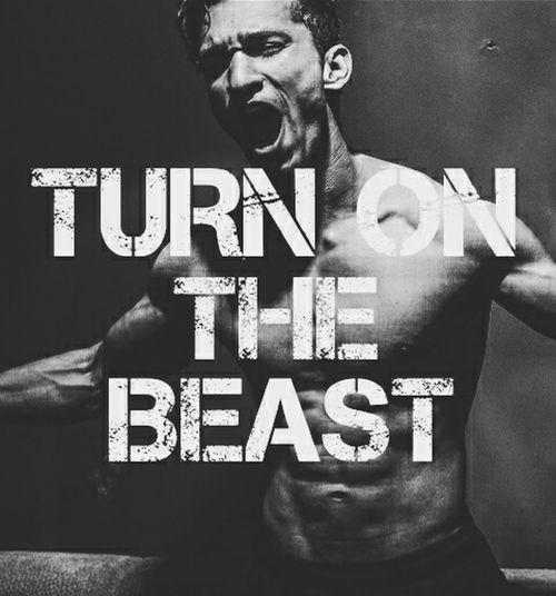 Turn on the Beast Shirtlesshunk! Beast Beastmode FitnessFreak Fitness Olympia Workout