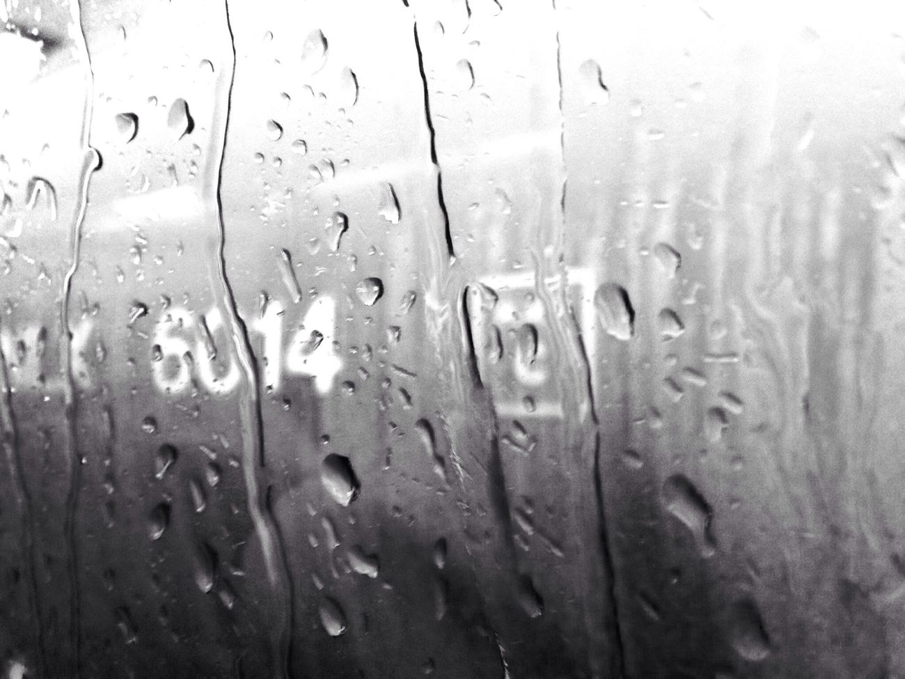 Riding The Train Rain Drops