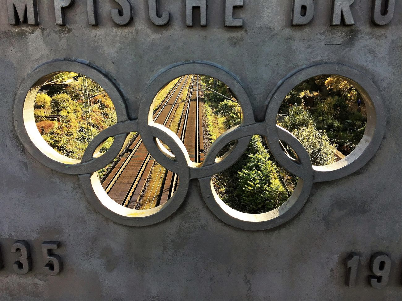 Bridge Close-up Day No People Olympic Outdoors Rails Railway Rings