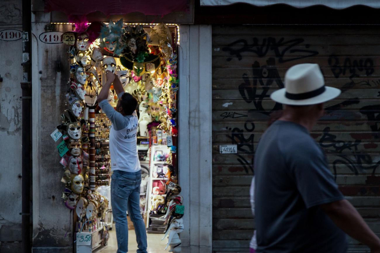 Merchant - Full Frame Masks Merchant Outdoors Person Retail  Shop Souvenir Standing