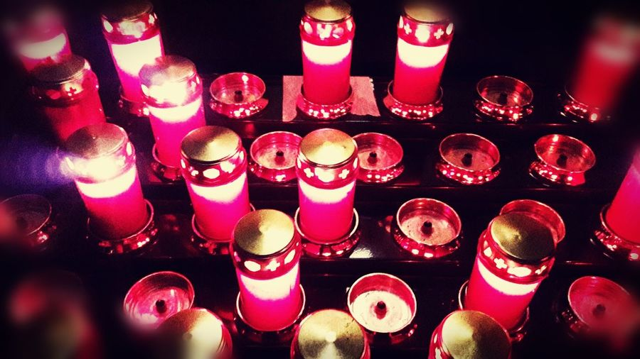 Red No People Lights Suggestive Photography Religious  Hope The Prayer