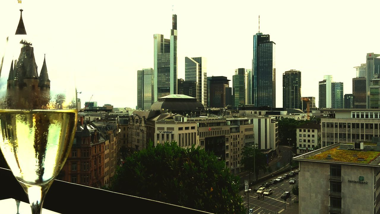 Frankfurt Main / Germany 2016 City Take A Seat Frankfurt Have A Drink Good Times Skyline White Background White White Sky Drink Feel Good Urban Skyscrapers Cheers Frankfurt Am Main Enjoying Life Hello World Enjoying The View Frankfurt's Life Citylife Traffic Empty Sky Dusty Grey