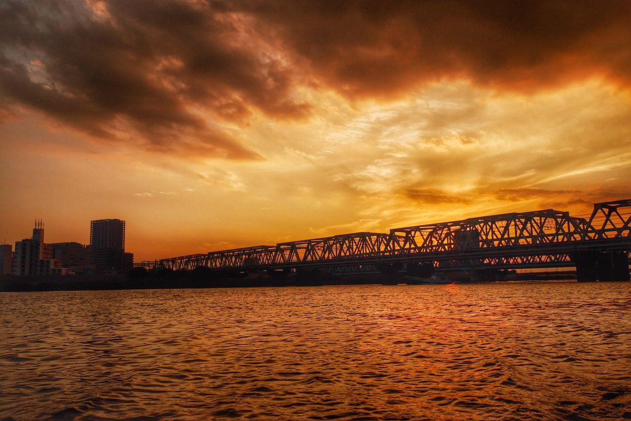 Sun Set Bridge River