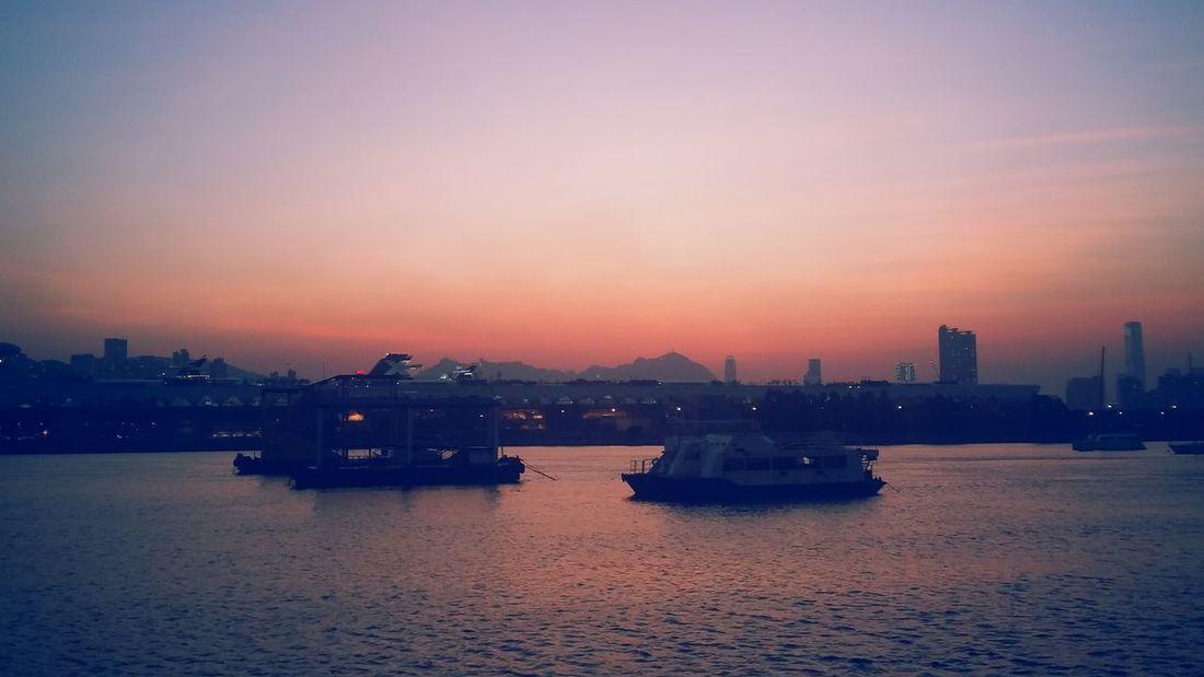 Hong Kong Kwun Tong Mountain Sea EyeEm Selects Cityscape Water Nautical Vessel Building Exterior Ship