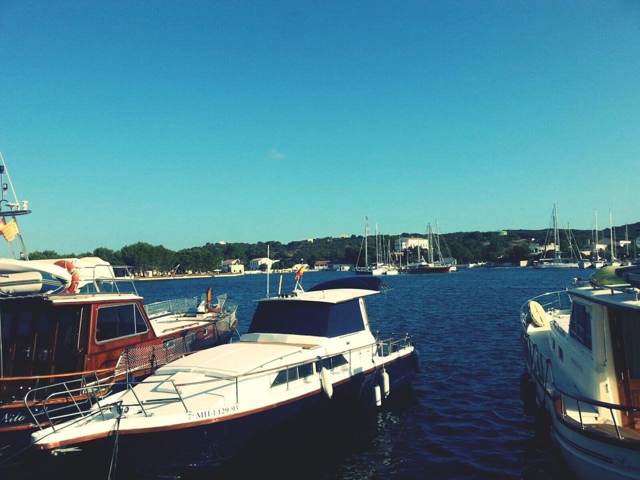 Showcase July Summer Ship Vintage SPAIN Menorca Port Sea Travel Destinations Balearicislands Mao Tourism