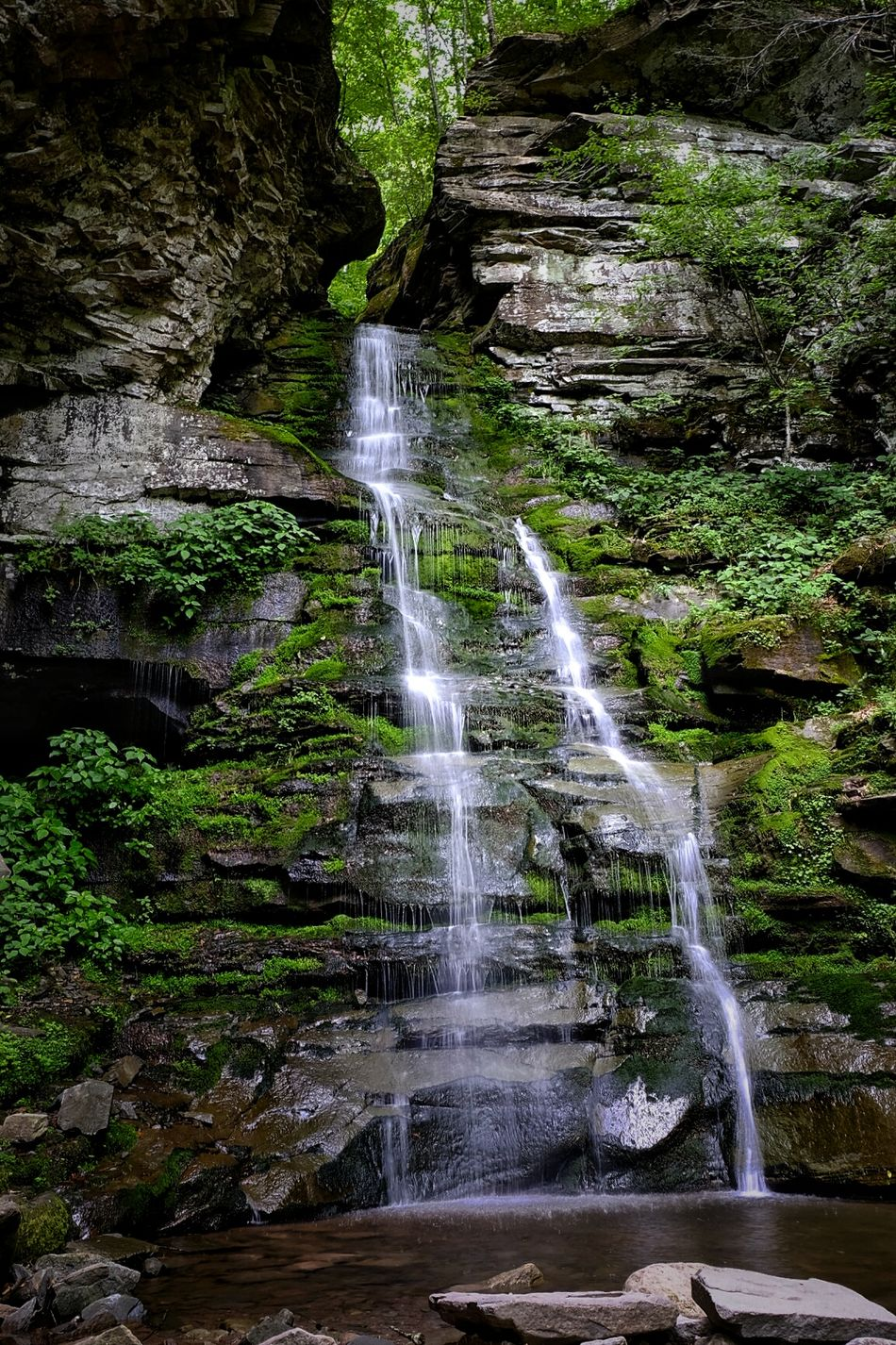 Waterfall Outdoor Photography Forest Nature FUJIFILM X-T1 Falls Handheld 1/4s Spectacular Awesome Natural Beauty Motorcycle Travels Motorcycle Ride