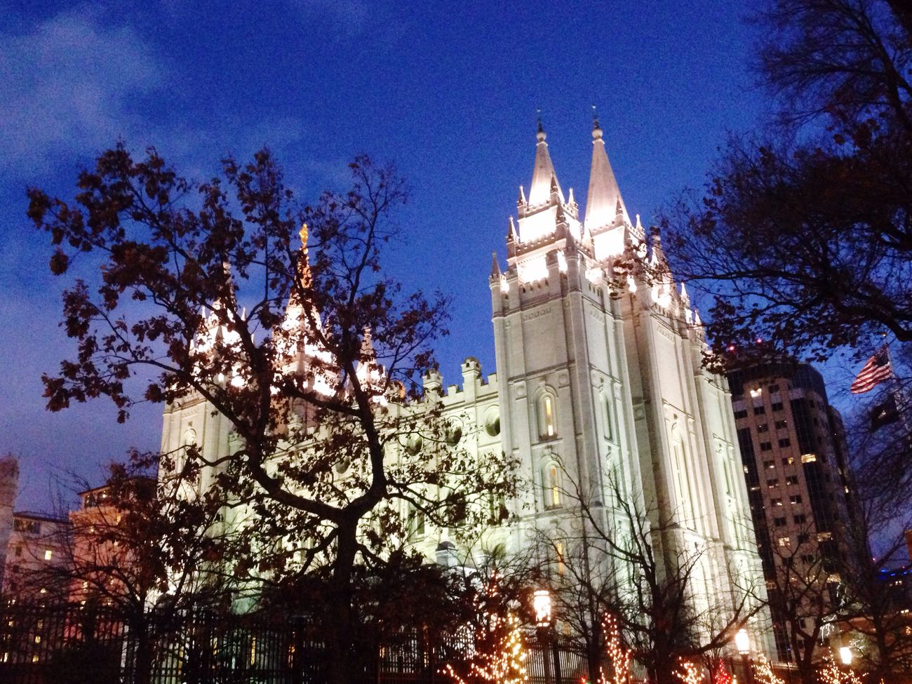 """I'm going there someday"" Slc Christmas Lights Temple Square"