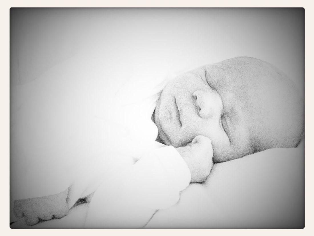 Feeling Thankful Enjoying Life Blackandwhite Newborn Peaceful Sleeping Newborn Portrait