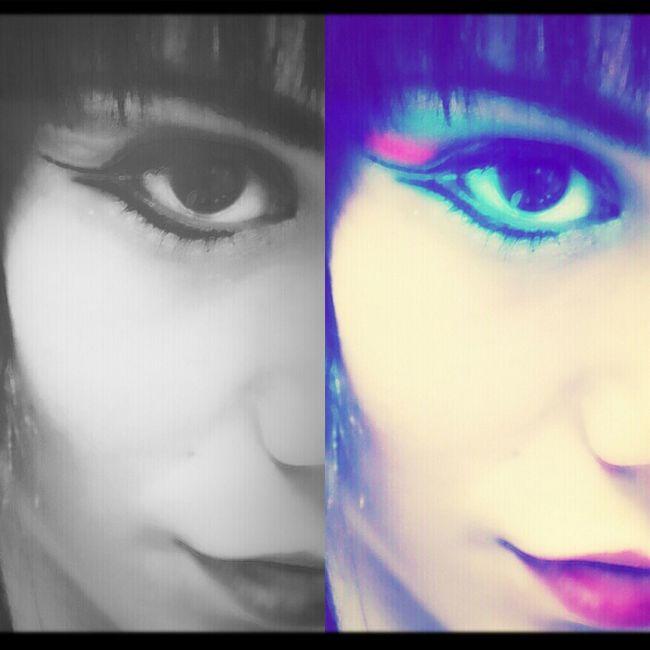 Me Eyes Blackandwhite Selfportrait Makeup