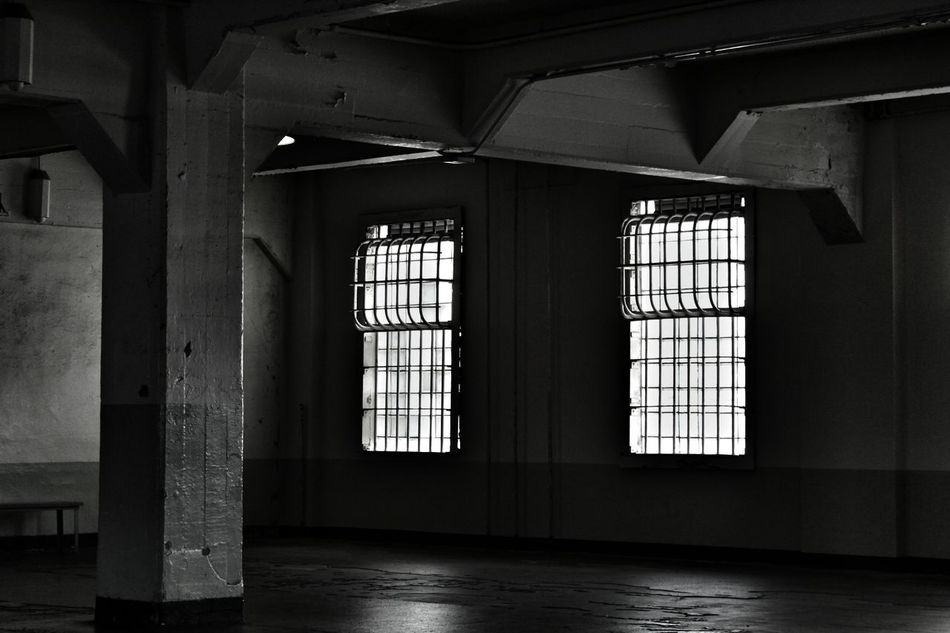 Indoors  Window Architecture Built Structure Day No People Politics And Government Prison Cage Windows Creepy Dark Architecture