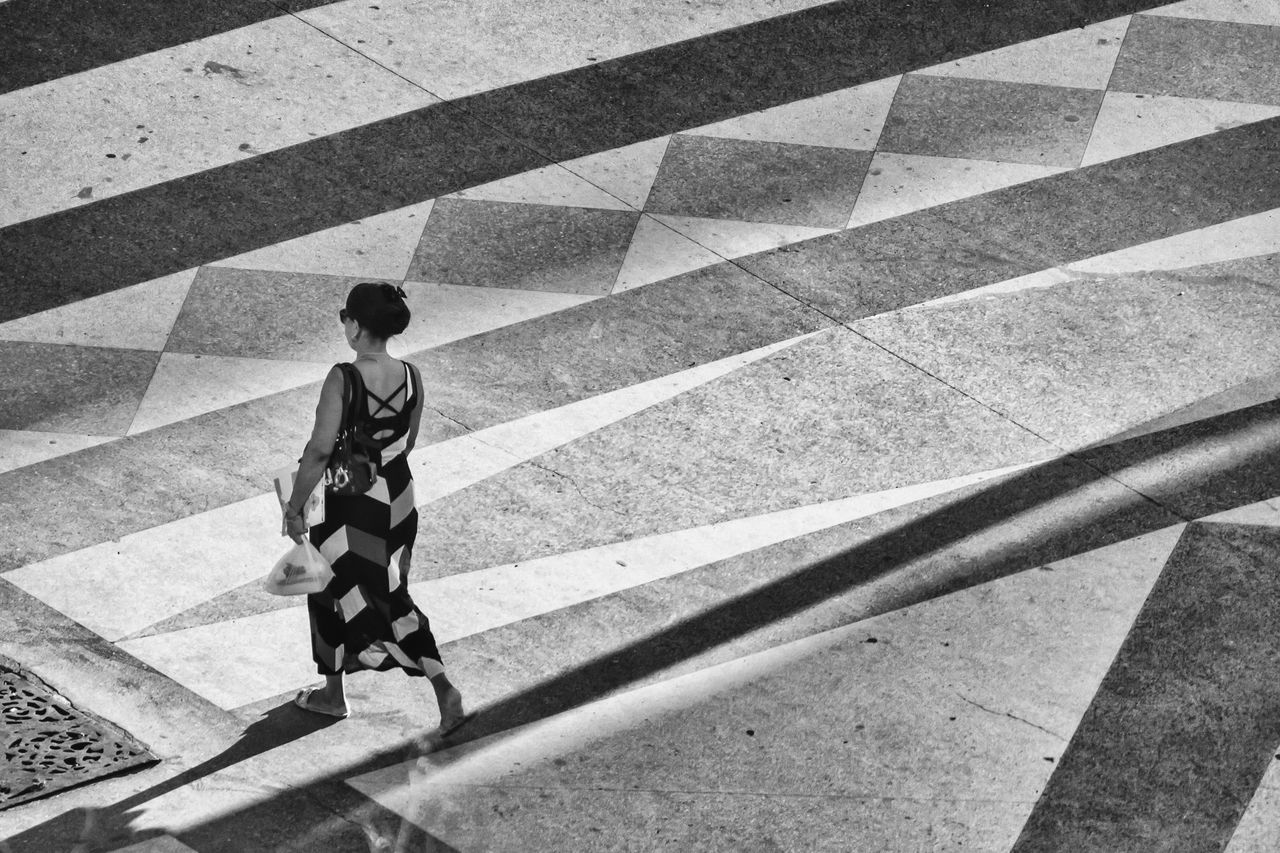 Adult Black And White City Life Cuban From My Point Of View Geometric Shape Getting Inspired Lifestyle Old Havana One Person Outdoors Real People Shadow Street Streetphotography Sunlight Walking Walking Alone...
