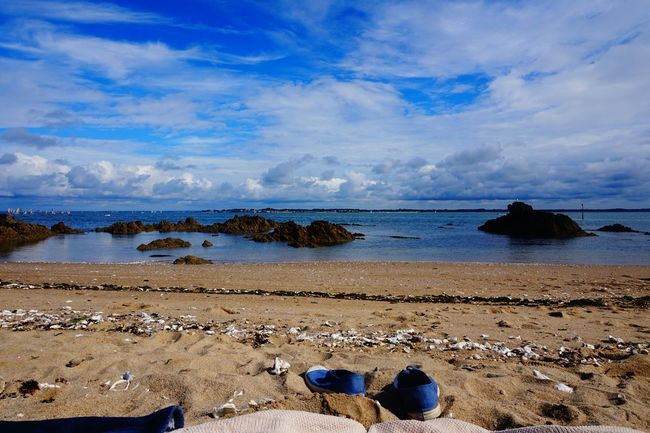 Beach Atlantic Ocean Quimiac Summer2015 Quiet Moments France Blue Blue Sky Summer Memories Blue Wave My Favorite Photo Sky And Clouds