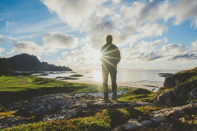 You have reached your destination. Andenes, North Norway Whale Trail Tour Norway North Sunset Sunset Light Self Portrait Travel Photography Travel . Edge Of The World The Great Outdoors - 2016 EyeEm Awards