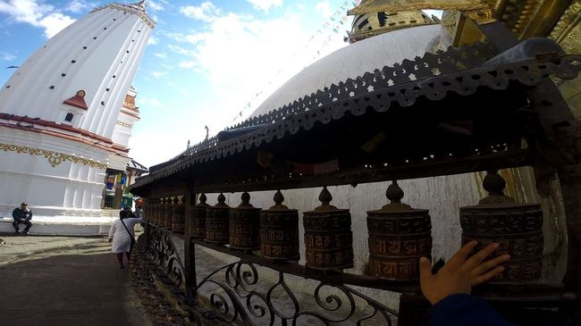 Finding inner peace Architecture Buddhist Temple Built Structure Cloud - Sky Day Lifestyles Nepal Nirvana Outdoors Peace Peace And Quiet Sky Temaiken Tourism Travel Destinations Feel The Journey