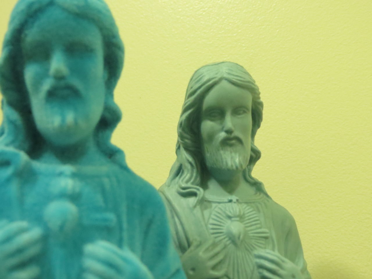 Statue No People Close-up Day Jesus Christ Jesus Christ Duplicate Two Double Exposure Double Vision Lifestyles People Statue Blue Two Tones Two Tone Shades Of Blue Heaven Religion Relic Legend God Christ Almighty Shadows