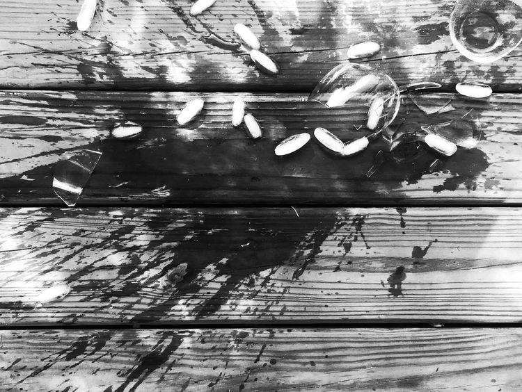 Broken Spill Glass Drinking Ice Cubes Shards Deck IPS2016Stilllife Alchohol Alcholic  Abuse Shattered Shattered Glass