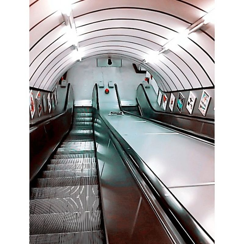 One of the Manu down escalators on the London Underground. Centuries old but still connecting commuters to destinations! London Londoncity England Londres Instalondon Londoner Iglondon Londra Uk Britain ILoveLondon Urbano UrbanART Instahub Ic_cities Urban City Town Igshots Justgoshoot Fabshots Implus_daily Popularpic Loveit Tagsta tagsta_urban