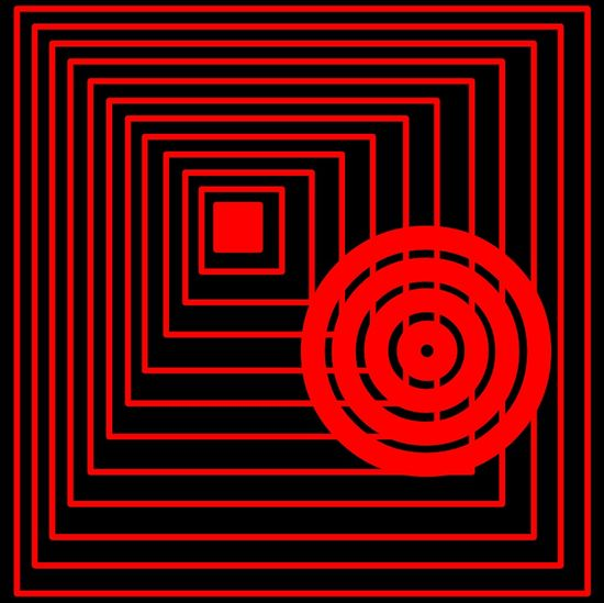 Sketch Draw Eyeemtags: Red Repetition Steps Vibrant Color In A Row Geometric Shape Pattern Ceiling Conformity Diminishing Perspective Square Surveillance Circle Handrail  Underground Walkway Modern