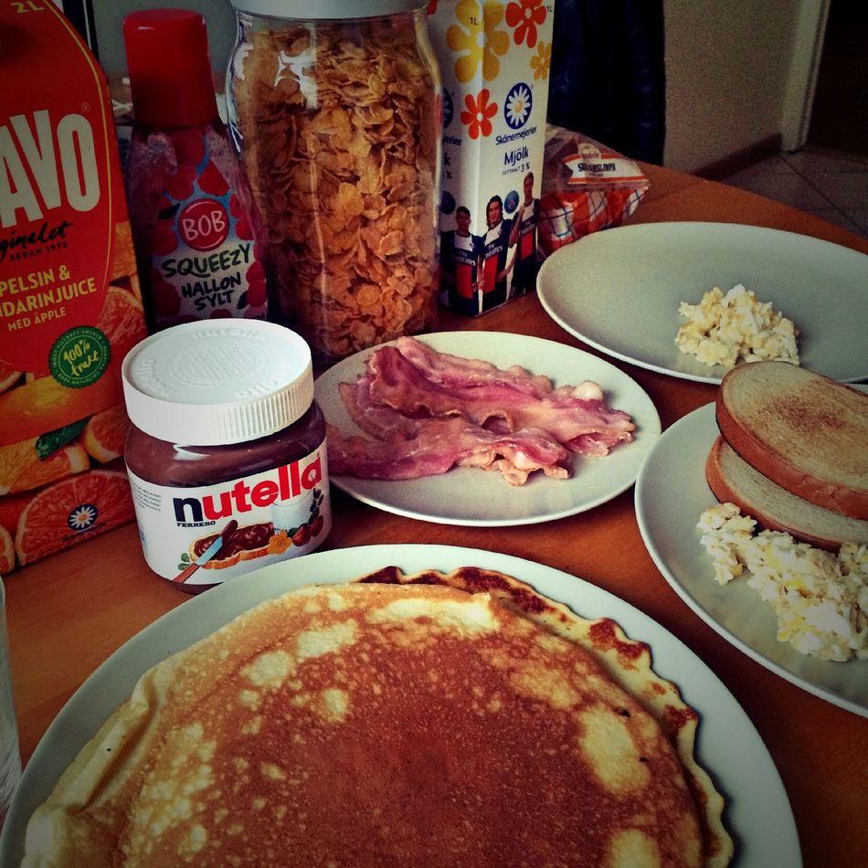 Brunch Pancakes Bacon&egg Yummi